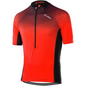 Löffler hotBOND RF Half-Zip Bike Jersey Men, rood